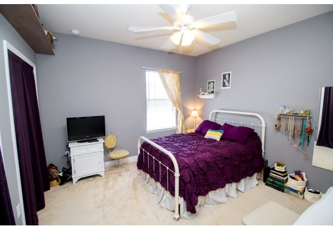 Bedrooms are just down the hall from the laundry room so residents don't have to bring laundry up and down the steps.