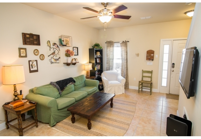 Condos have high 9-foot ceilings throughout.