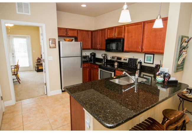 Condos were designed with luxury kitchens.