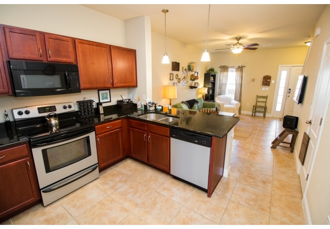 The living and kitchen area is a friendly and inviting space.