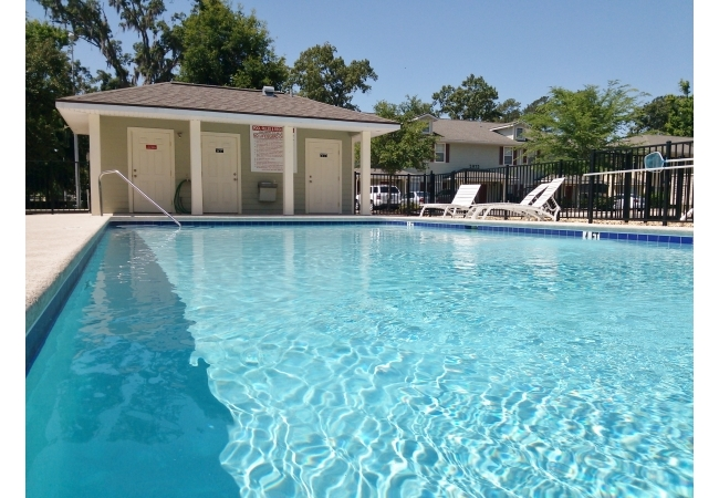 Each unit is within walking distance to the sparkling community pool.