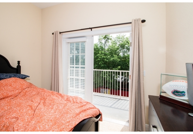 Many of the condos have private balconies off the bedrooms.