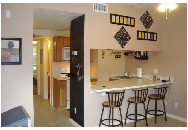 The floor plan has additional seating at the breakfast bar to maximize space.