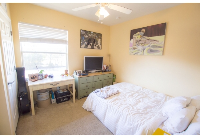 Bedrooms are located in the back of the condos.