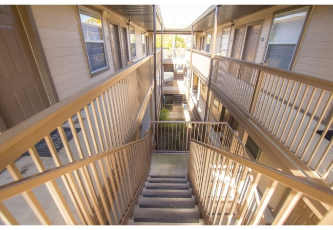 The community features 1 bedroom/1 bathroom condos on both floors.