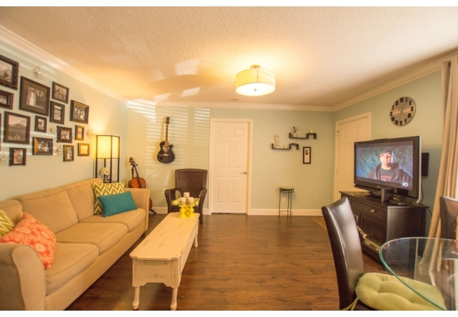 While a few condos are nicely renovated such as this, the majority of them have the original finishings.