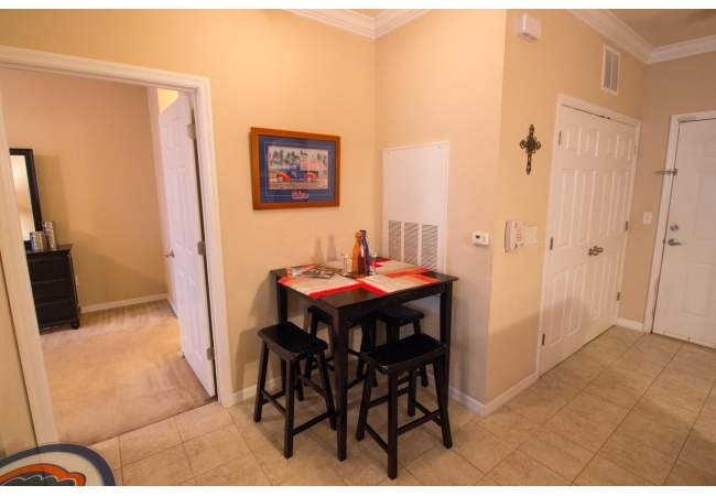 Along with the breakfast bar, the floor plan features a cute dining nook.