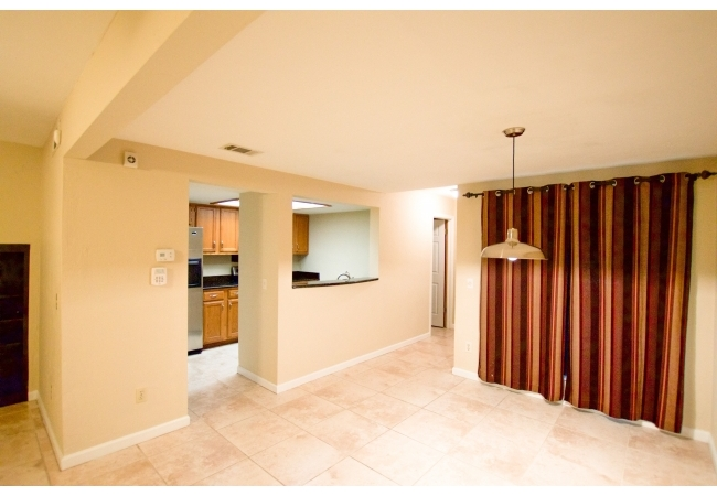 Towhomes have a formal dining area across from the kitchens.
