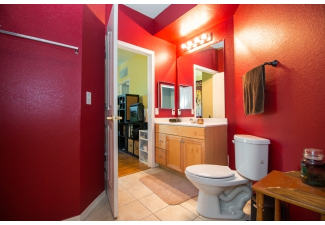 Here's a picture of a bathroom in the 2BR floor plan.
