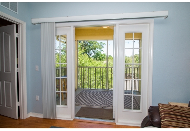 The 2BR plan has a large screened in porch off the living room.