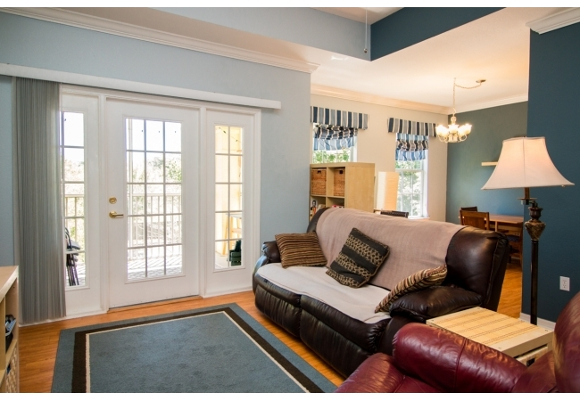The community features large 2BR/2BA and 3BR/3BA condomiums.