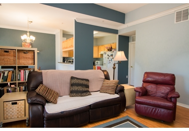 Condos have high ceilings, crown molding, and spacious floor plans.