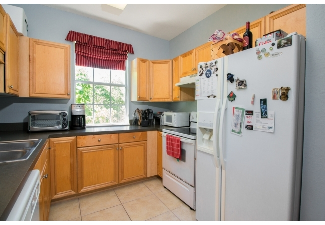 Kitchens are well equipped with modern conveniences, including a dishwasher.