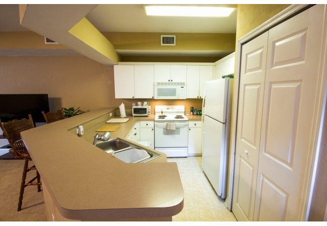 The 2BR flat style floor plan also is also an open concept that really maximizes the limited space.