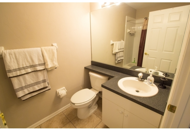 Each bedroom has its own private bathroom.