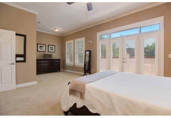 The upstairs master bedrooms within the town homes often have balcony access overlooking Downtown.
