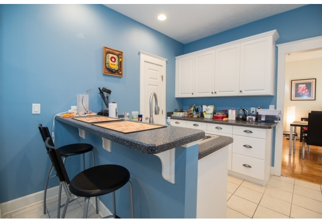 Most are equipped with casual bar seating in the kitchen.