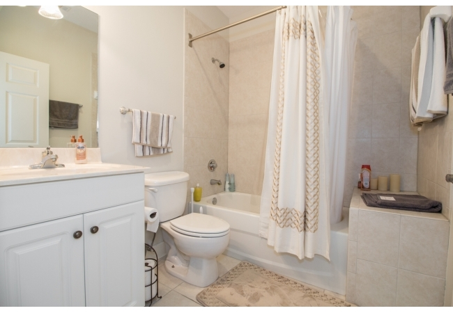 The bathrooms are fitted with luxury tile and modern finishings.