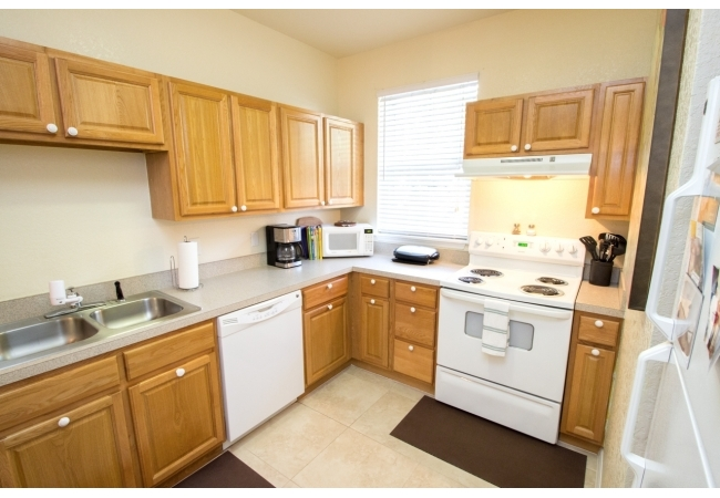 Kitchens have plenty of space for two.