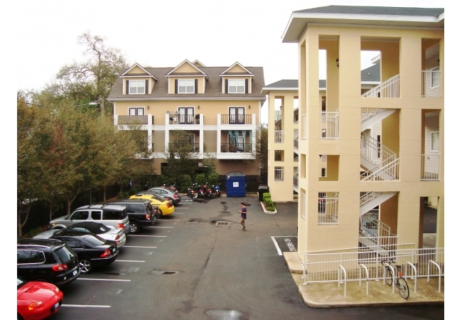 Reserved parking is conveniently located in the on-site community parking lot.
