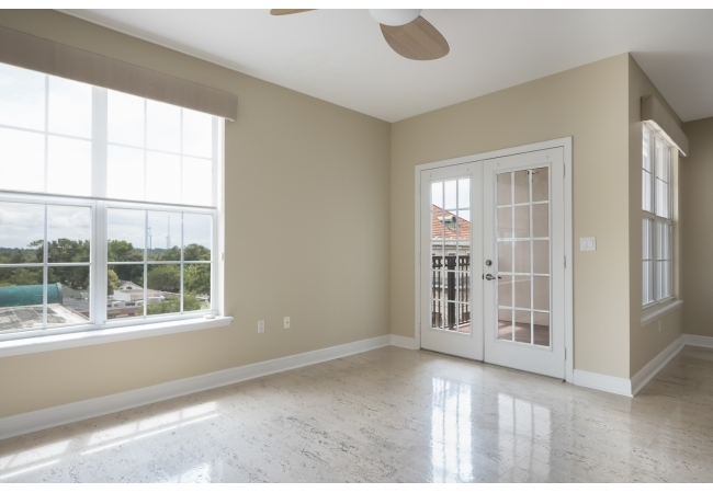 The townhouses feature marble floors and large windows with pleasant views of surrounding historic downtown.