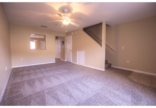 Townhomes are 2 berdoom/2 bathrooms with a half bathroom downstairs.
