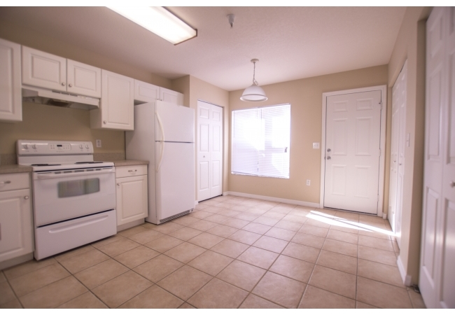 Kitchens are large enough for a breakfast dining nook.