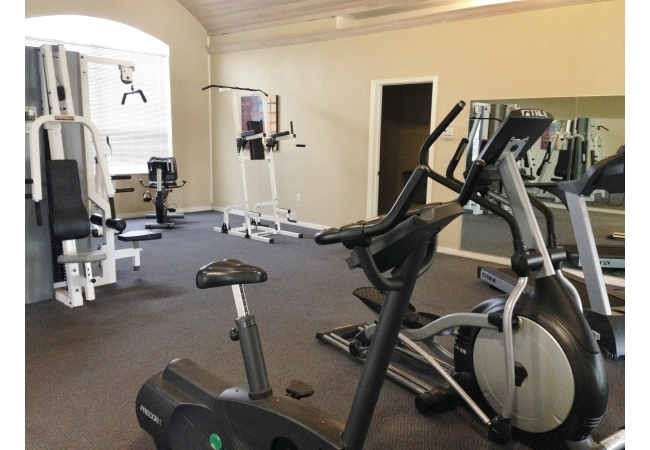 The fitness center is open 24 hours a day.