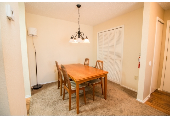 Excluding the 1 bedroom floor plan, each condo has a separate formal dining area.
