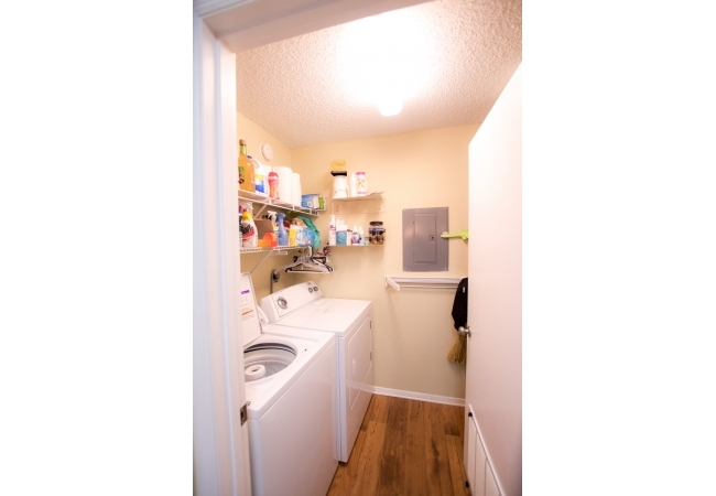 Each condo has a separate laundry room with a full-sized washer and dryer.
