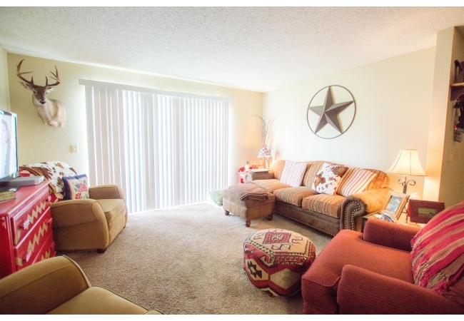 Living rooms are bright and inviting.