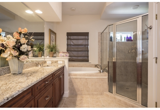 Bathrooms in Greenbriar Terrace are unrivaled luxury.