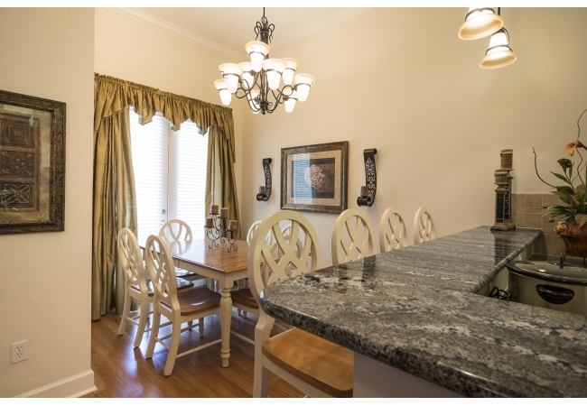 Condos have hardwood floors and high-end lighting fixtures.