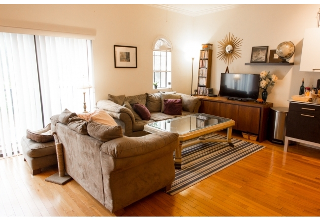 Check out the living room in the 2 bedroom/1 bathroom floor plan.