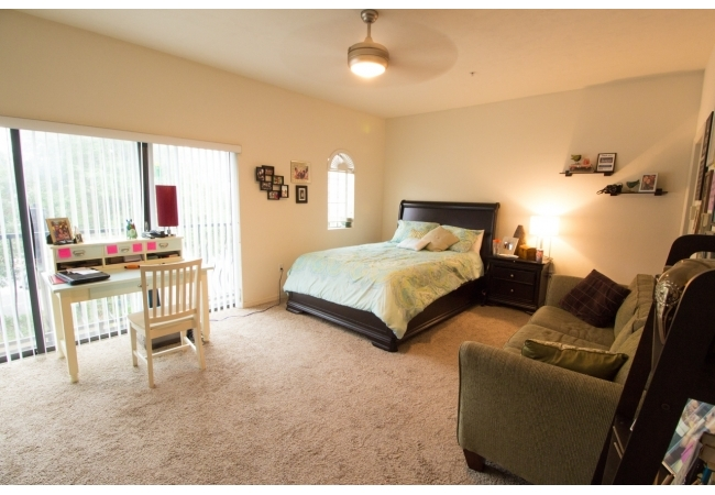 In the 3 bedroom/2 bathroom townhouses, there is an oversized upstairs bedroom. (1/3)